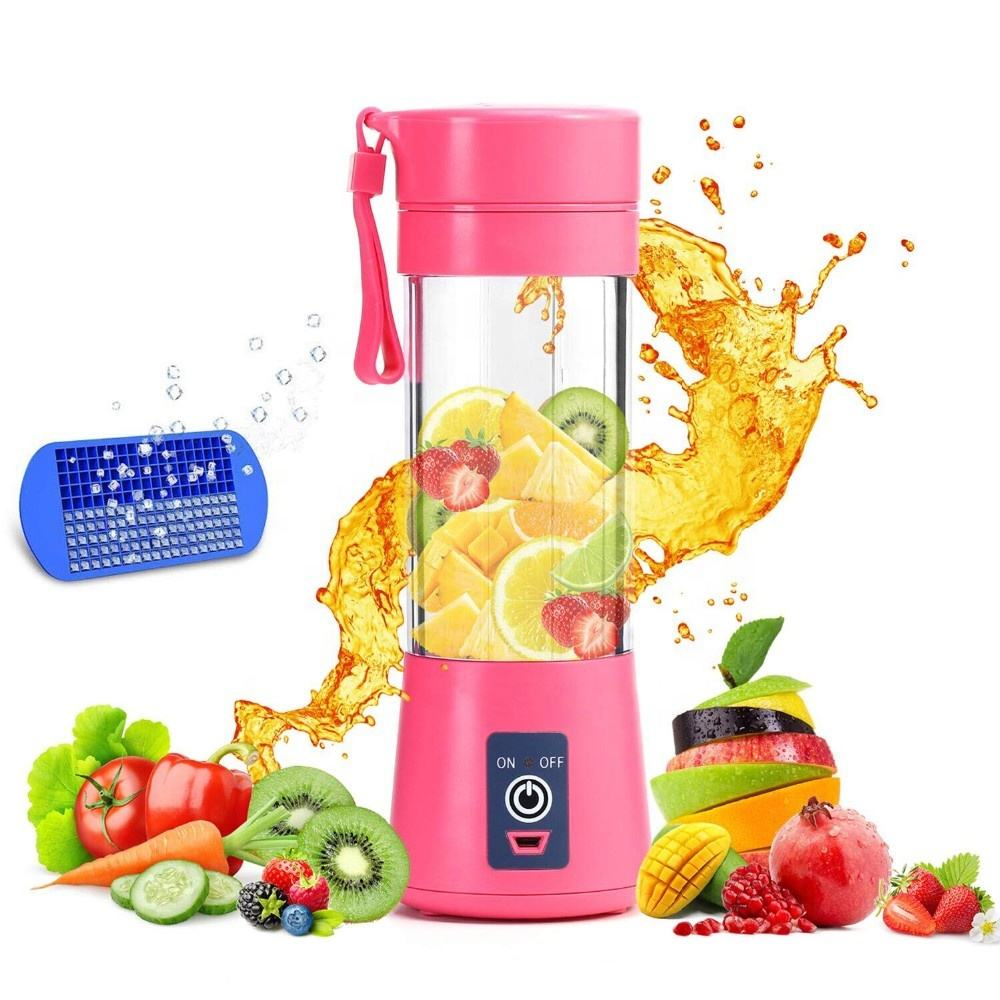 SSS USB Juicer Cup Oplaadbare 380ml Mini Draagbare Juicer Fles Sap Blender