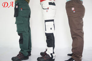 cotton and cheap white color painting mens cargo pants trousers