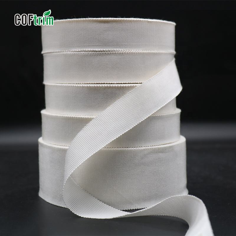 High quality Stock Wholesale Solid Color 10-75mm grosgrain ribbon