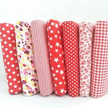 Red Color 100%Cotton Patchwork Cloth Fabric Print Cut Piece Home Curtain Handmade DIY/Cloth Bag 100% Cotton Fabric