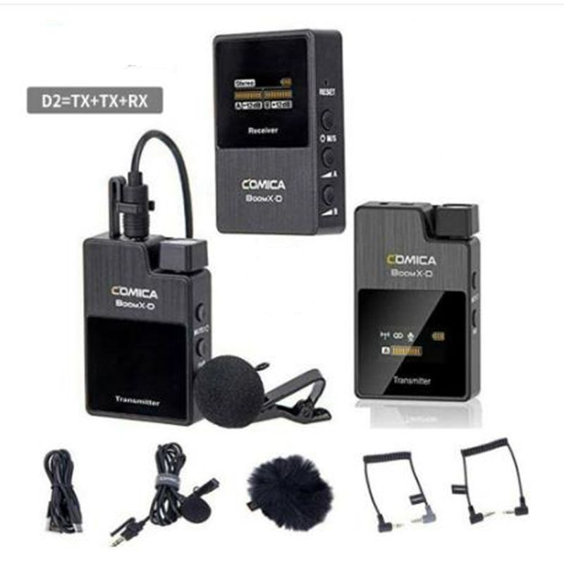 COMICA BoomX D2 Professional Mini 2.4G Digital Wireless Camera Microphone with Mono/Stereo Switchable Output Modes