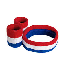 factory direct custom zipper pocket wristband custom sports elastic wristbands with cotton logo cotton sweat wristband