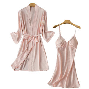 Silk language simulation silk pajamas summer female ice silk pajamas two-piece embroidery sexy nightgown woman pyjamas
