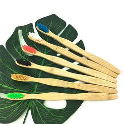 100% Biodegradable Organic Toothbrush Custom Logo Natural Bamboo Toothbrush
