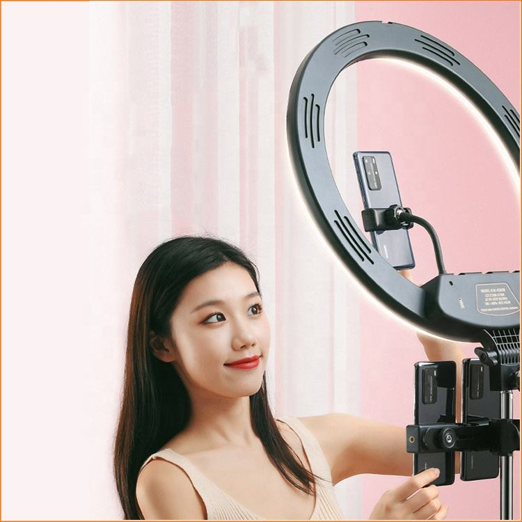 18Inch Photo Studio Lighting LED Ring Light 2700-6500K Photography Dimmable Ring Lamp With Tripod for Video Makeup