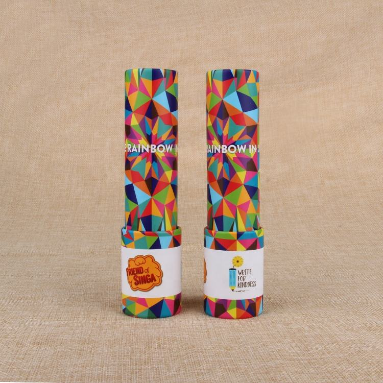 Kaleidoscope Custom Decorative Cardboard Tube Classic Nostalgia Parent-child Interactive Kaleidoscope Tubes