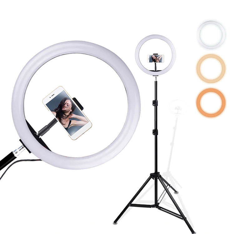 2020 12 Inches LED Ring Fill Light Studio Photo Video Live Stream USB Dimmable Lamp Selfie Camera Phone Light