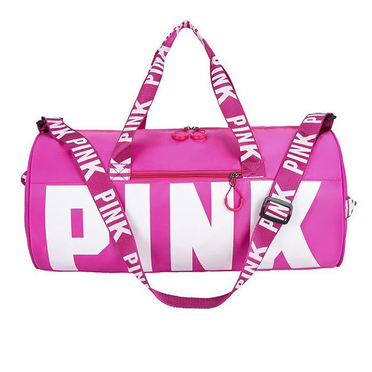 New ladies outdoor travel bags large capacity women overnight tote bag fashion girls pink duffel bag