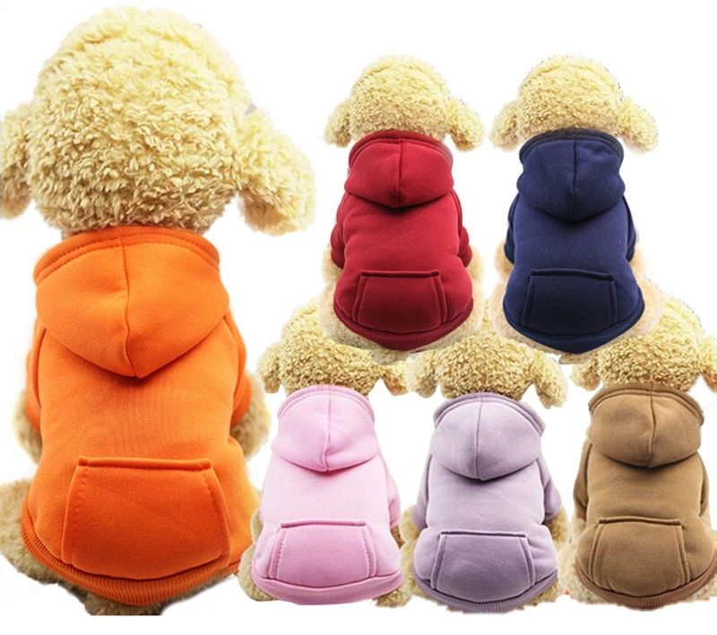 Pocket sweater hat casual sports Hoodie autumn winter wholesale customized small medium dog cat clothes