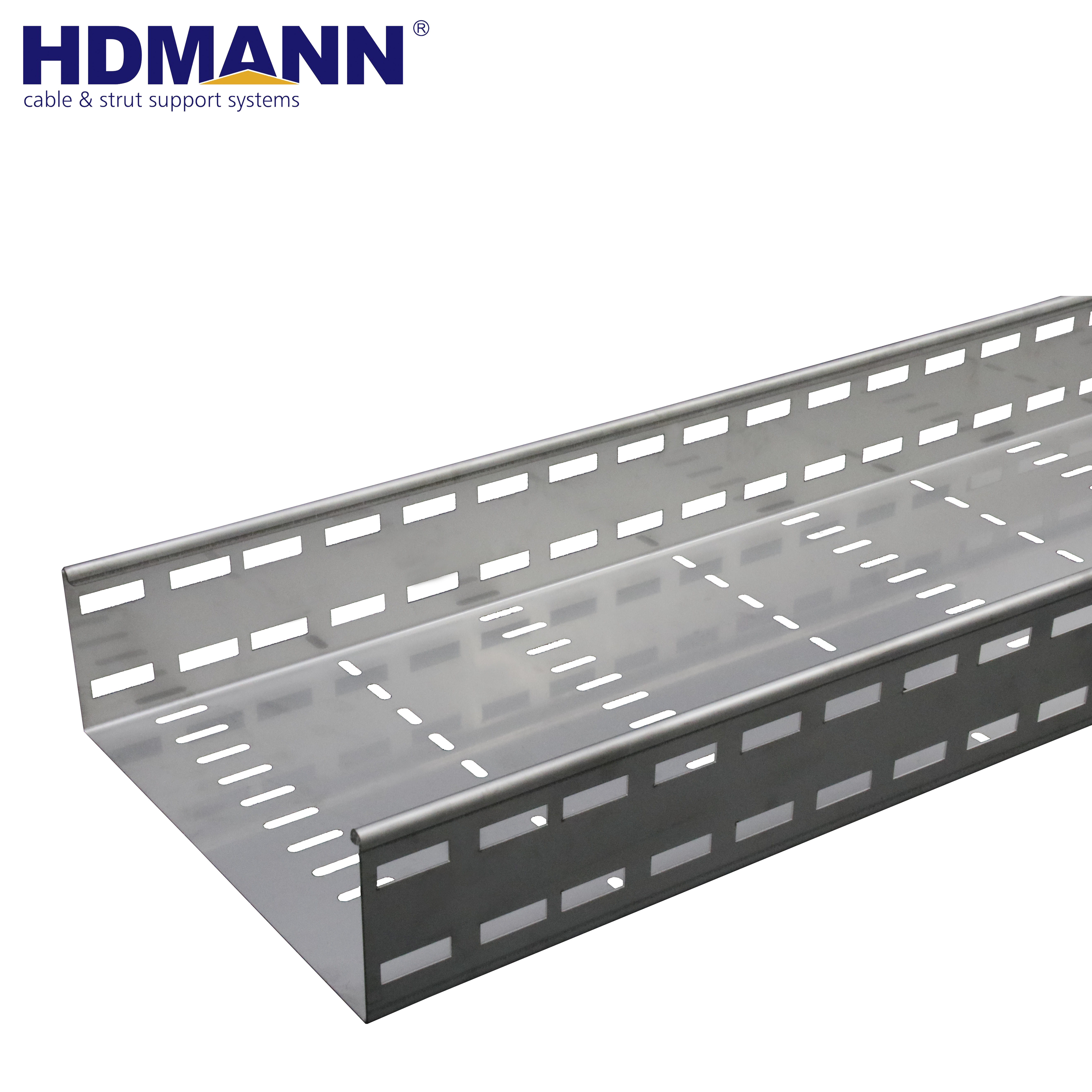 Galvanized steel cable tray and Perforated cable tray supporting system