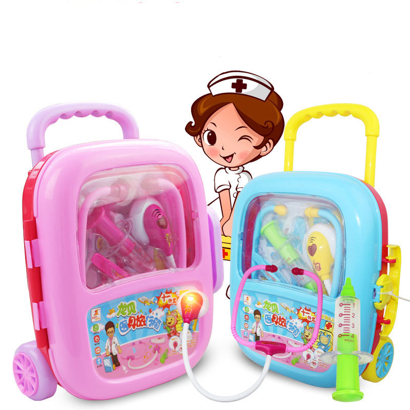 Customizable Kids Play House Plastic Toys Doctor Set Baby Toys Simulation Medicine Box Doctor Toys Stethoscope Injections
