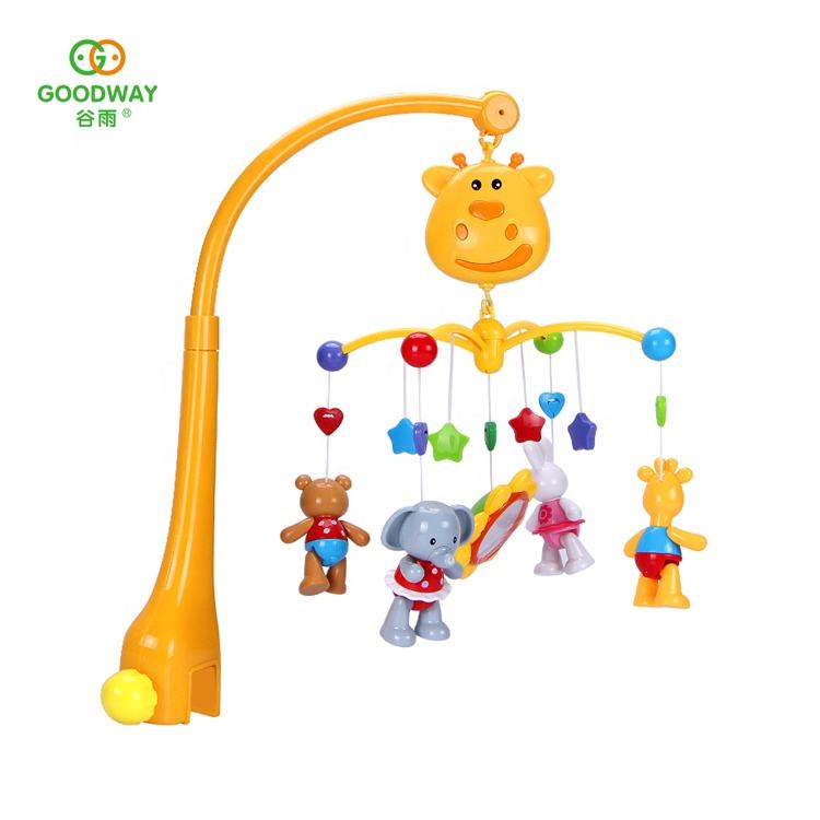 Educational Crib Mobile Musical Bed Bell Infant Toy for Baby