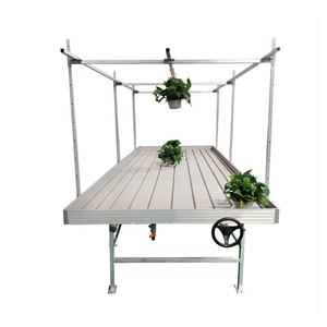 Aluminium hydroponic plant growing flood rolling tray table