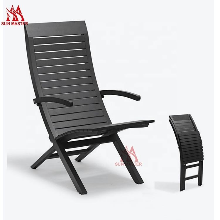 New Design Furniture Folding Chaise Longue Multicolor Outdoor Portable Aluminum Lounge Armchair Balcony Backrest Lazy Beach Cha