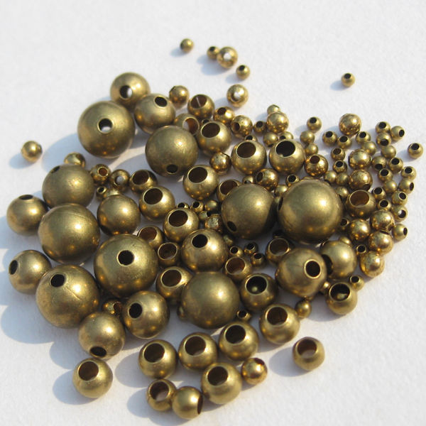 Hot Sale 100Pcs Silver//Gold//Copper//Bronze Seamless Copper Metal Spacer Beads