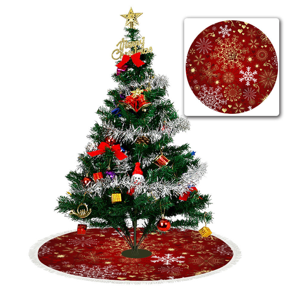 "2020 Christmas sequin Tree Skirt 18.5""/122 cm,Polyester Party Holiday Decoration"