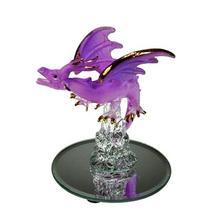 Handmade glass figurine small glass dragon figurines