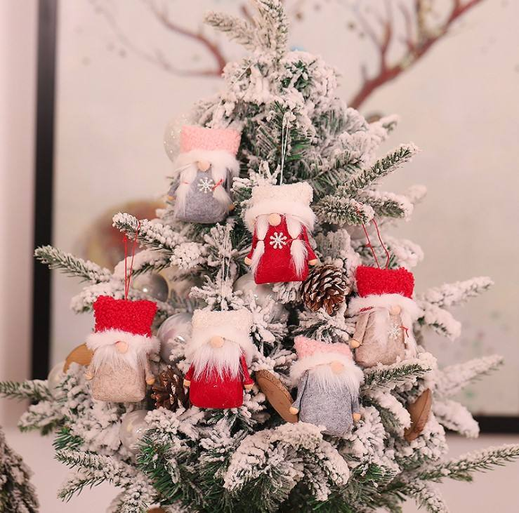Christmas Gnome Doll Christmas Elf Doll Tree Hanging Ornament Decoration For Home Gifts Christmas Decoration Ornaments Supplies