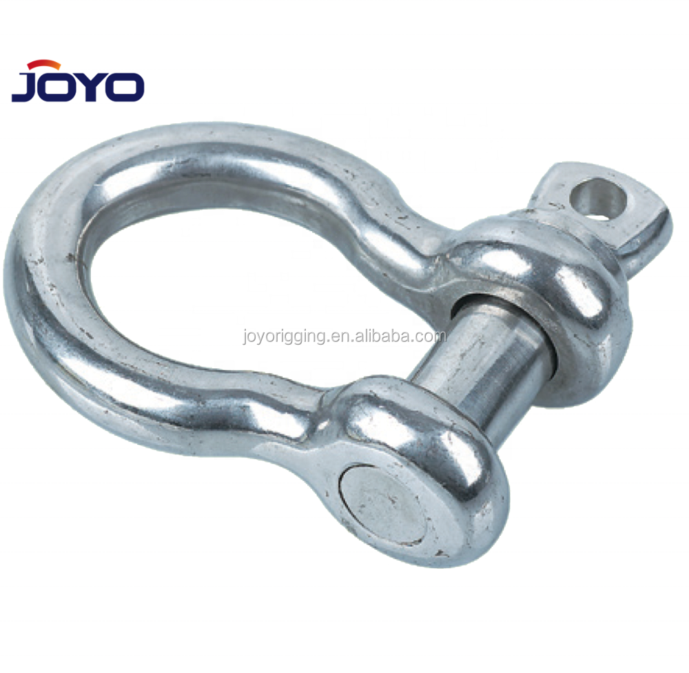 china manufacture US type ss304 or ss316 G209 screw pin bow type lifting stainless steel anchor shackle