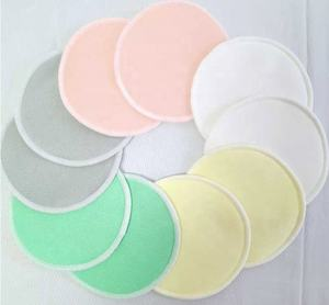 Breast Pads Washable Organic Bamboo Cotton Breast Pads Reusable Baby Feeding Nursing Pads