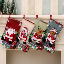 Newish Sale Custom High Quality Kids Logo Packing Set Design Toy Christmas Eve Tree Decoration Christmas Sock gift Bag In Bulk