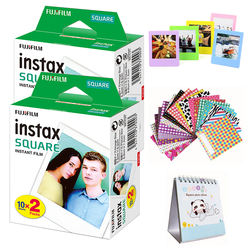 FujiFilm Instax Square Instant Film Twin Pack(2 Boxes, 40 Photo Sheets)Compatible with FujiFilm Instax Square SQ6, SQ10, SQ20