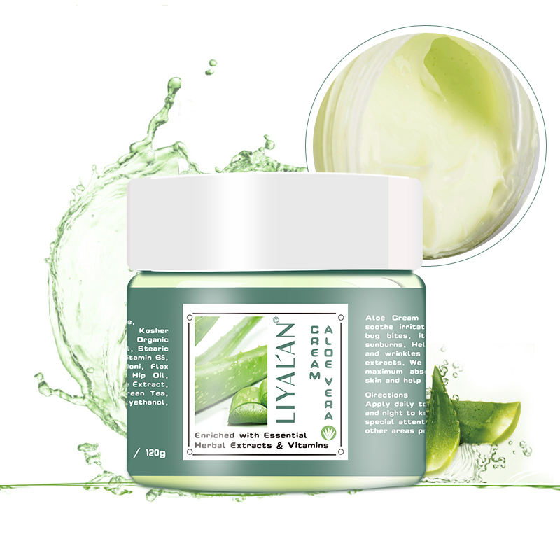 LIYALAN 100% pure natural organic skin care whitening acne aloe vera face cream
