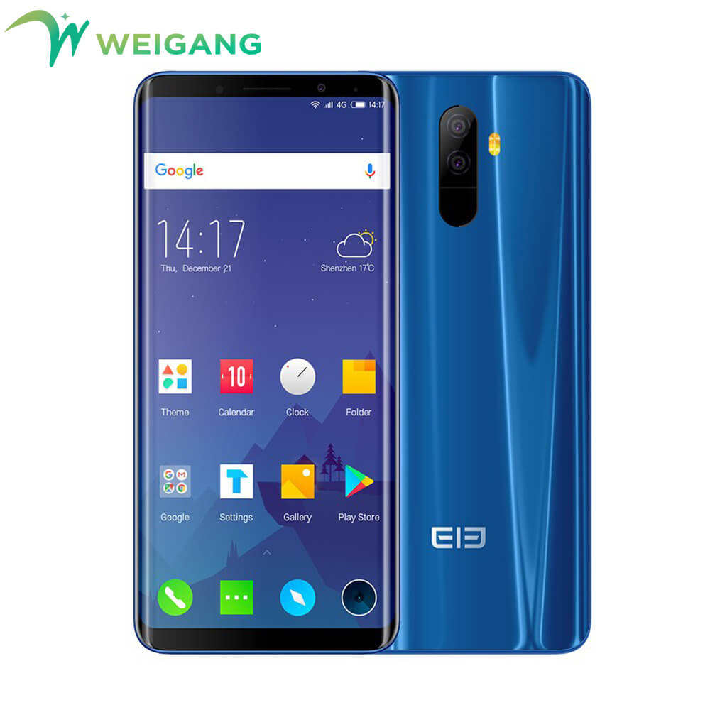 "Elephone U 5.99"" 18:9 Screen 6GB+128G Face ID Mobile phone Android 7.1 MT6763 Octa Core 13MP dual back Camera 4G LTE Smartphone"