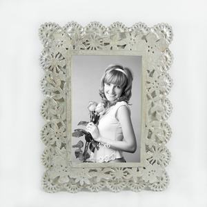 Antique pewter photo frame photo frame de prata alemão 4x6 photo frame