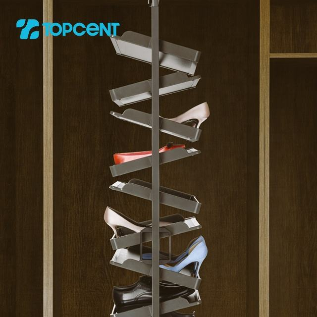 Topcent modern wardrobe accessories 360 degree revolving large storage capacity shoe rack