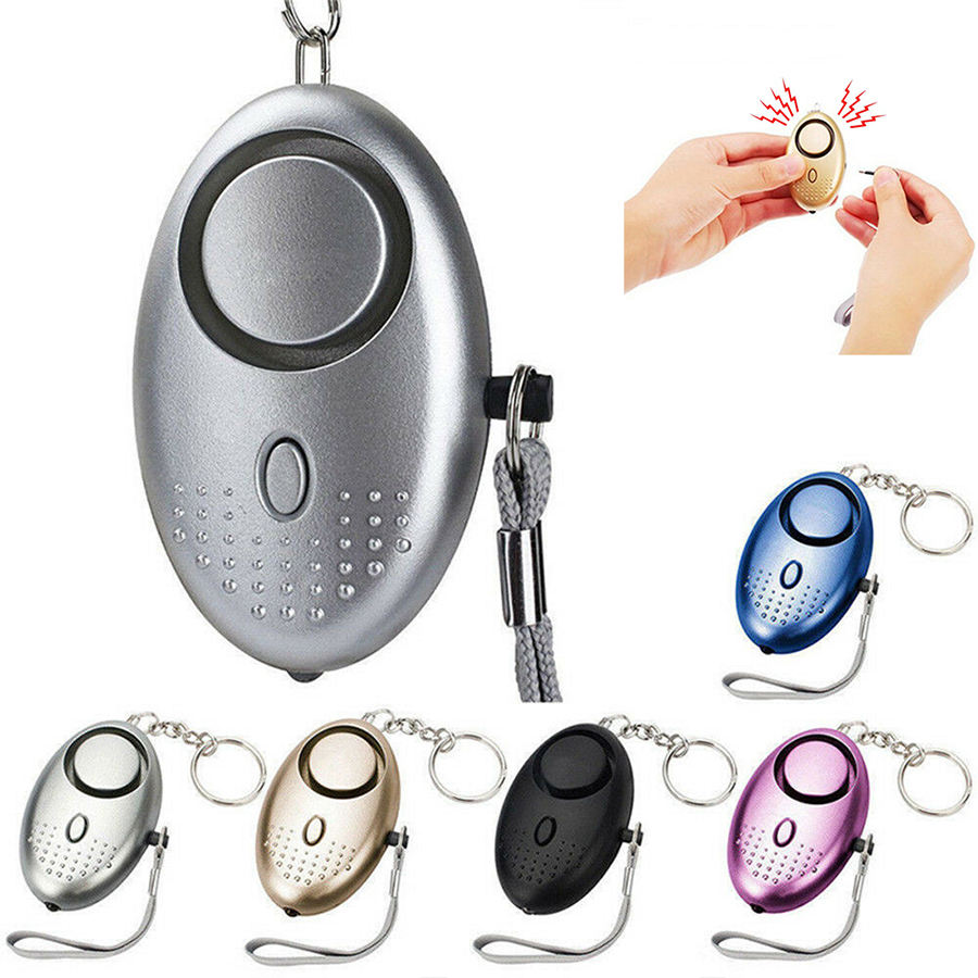 Portable Self Defence Safety 130DB Sound Alarm Women Girl Personal Security Anti Attack Alarm keychain For Emergency Protection