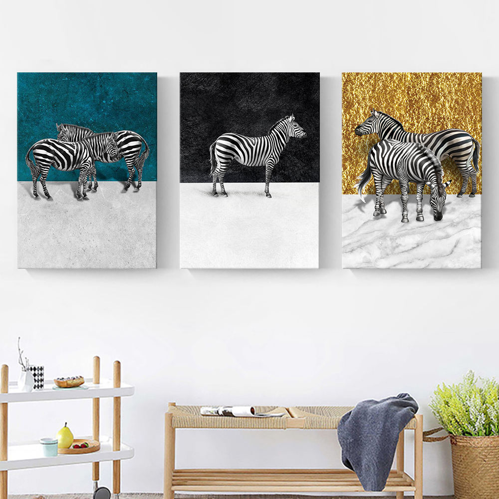 3 pieces set Custom order wholesale wall art stretched canvas prints