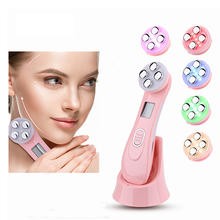 Hot products 2021 Skin Rejuvenation Ionic Photon 3MHz galvanic microcurrent facial massager 5 in 1 led skin tightening