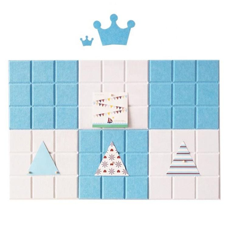 Square Smart Collect Boards Felt Multifunctional Wall Sticker for Home Deco