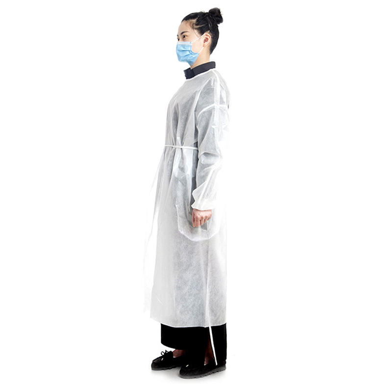 Pe [ Gowns ] Gown White Disposable Civilian Dustproof Personal White Pp Pe Isolation Gowns