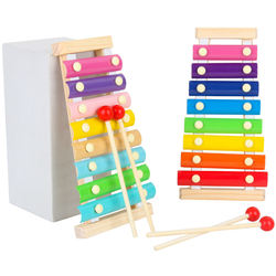Montessori Toys Children Early Educational Learning Puzzle Wooden Toys Xylophone Musical Toys Wisdom Music Instrument 8 Tone