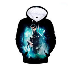 Cotton/polyester blended fleece fashion loose fit hooded daily workout hoodie