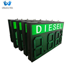 Customized oil price screen, all outdoor waterproof digital traffic refueling screen, led natural gas price screen