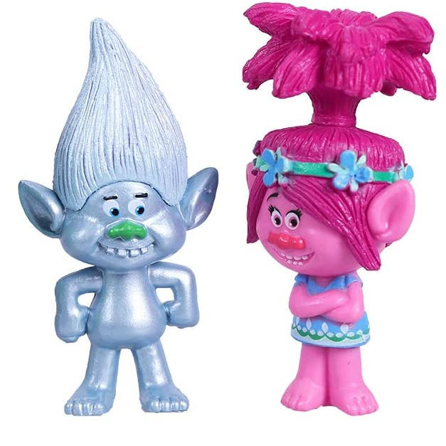 Custom Maken Hot Movie Karakter Trolls Plastic Beeldjes