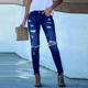 New Arrivals 2020 Fashion Pantalones Skinny Light Blue Denim Pants Ripped Distressed Women's Jeans