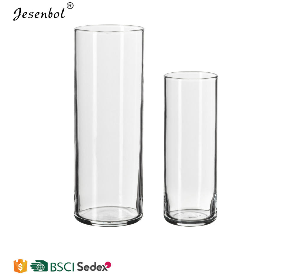 Wholesale Different Size Support Custom 25 Tall Clear Glass Cylinder Vases