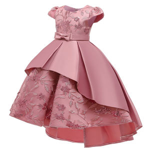 MQATZ High Quality Summer Frock Kids Party Wear Flower Girl Western Party Formal Trailing Birthday Dress T5170