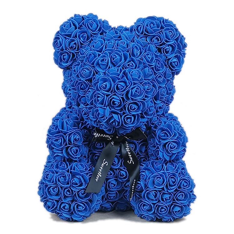 40cm 2020 hot sale holding heart rose teddy foam bear for valentine