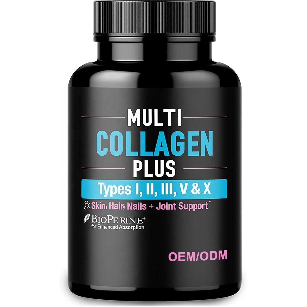 Nutrient Multivitamin Capsules Bioperine Multi Collagen Capsules Skin Care Supplement
