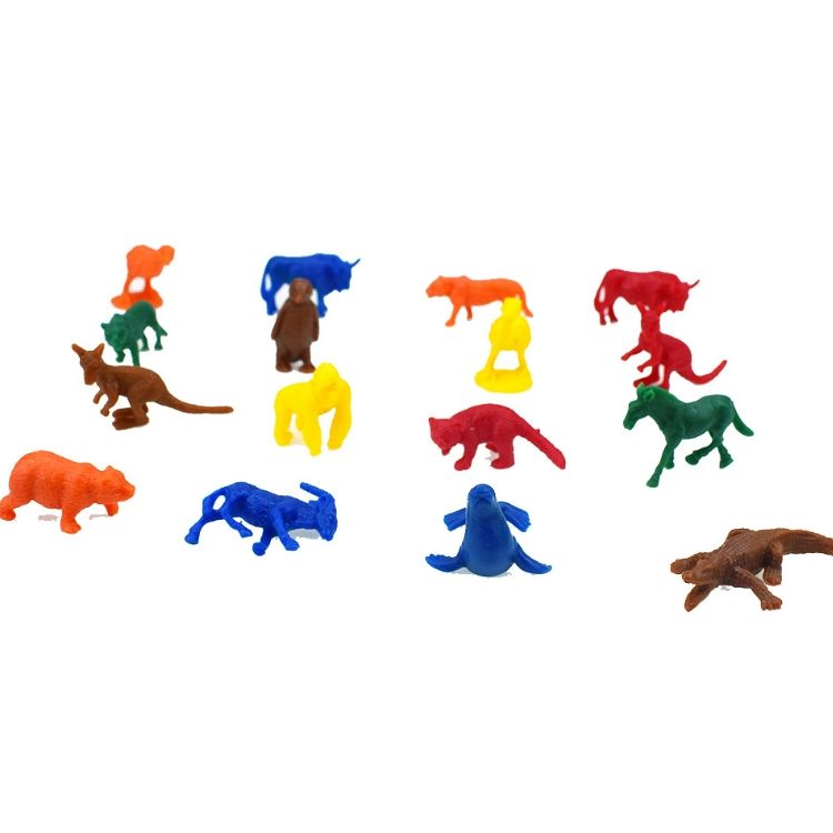 QX195 Plastic Bulk Mini Little CapsuleToys Small Gift Wildlife Miniature Toys For Kids