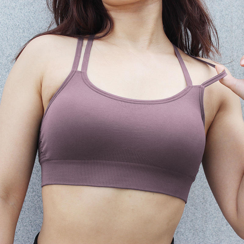 OEM Best Selling Seamless Yoga Sports Bra Back Strappy Fitness Athletic Bra Tops Women Sexy Bra With Match Yoga Leggings