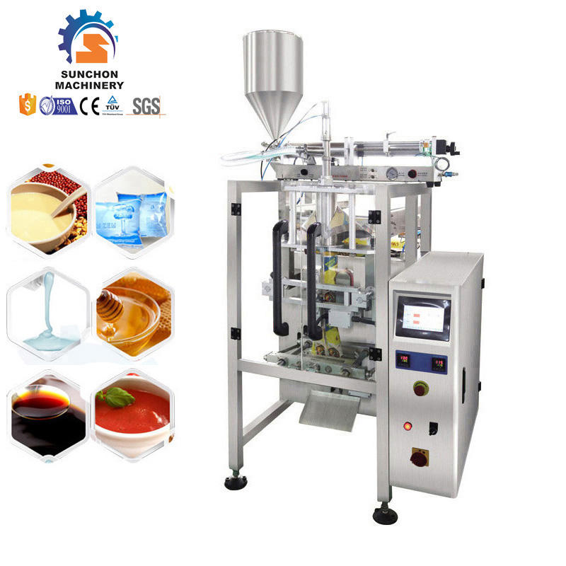 Small Multi Lines Popsicle Pouch Lime Liquid And Filling Sealing Packing Machine