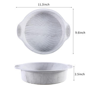 Circular silicon birthday cake mould high-temperature cake mould household microwave oven for tools