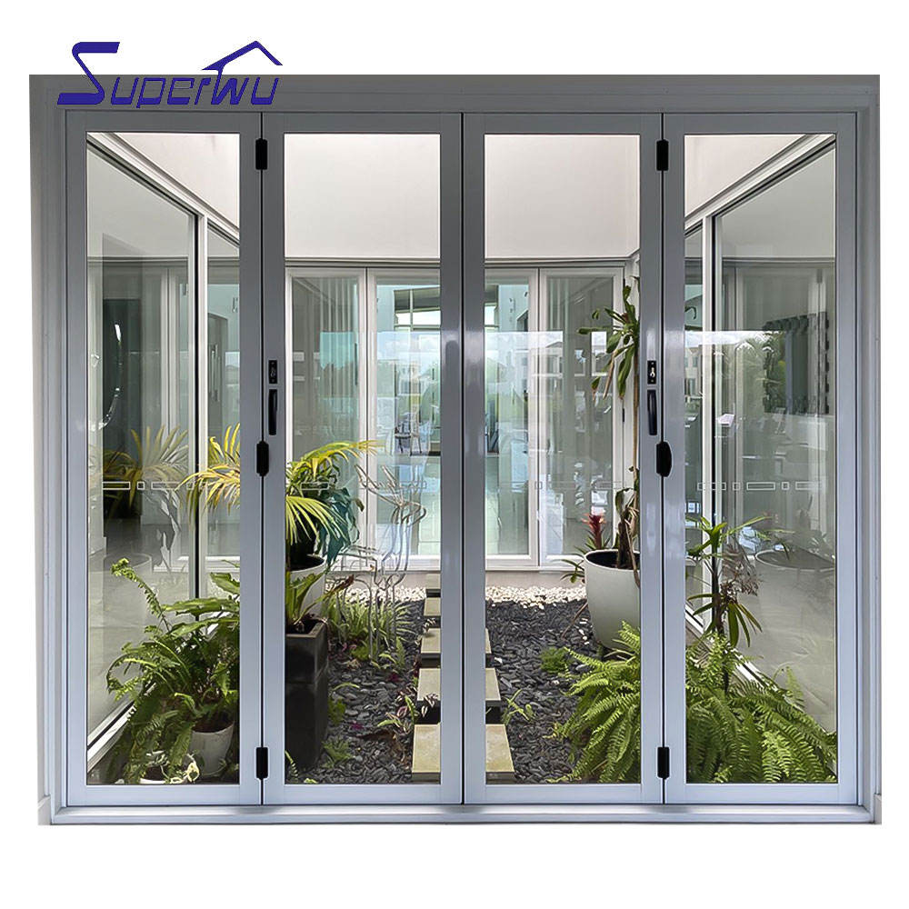 Alibaba china manufacture french double seal-ing aluminium folding patio doors prices