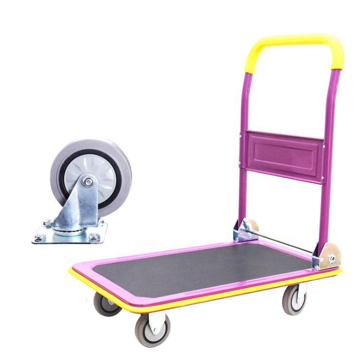 Épicerie transporter Pliant Chariot de Plate-Forme Main Camion Plate-Forme Pousser <span class=keywords><strong>Dolly</strong></span>